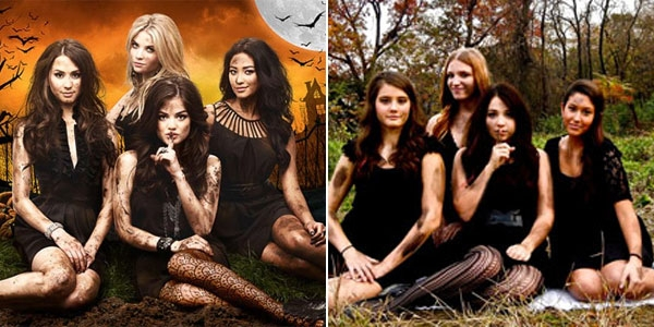 pretty little liars diy halloween group costumes lbds