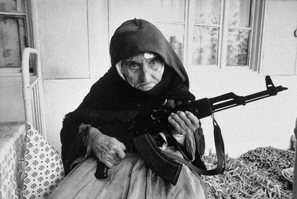 1990, a 106 year-old Armenian woman guards her house