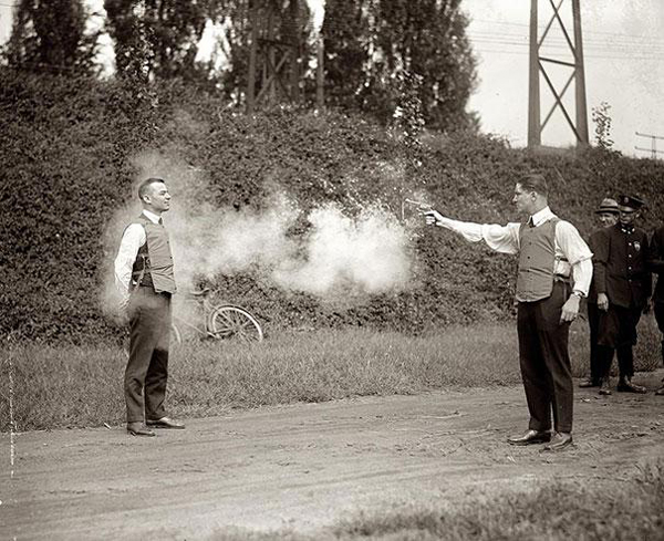 Man Tests Bulletproof Vest