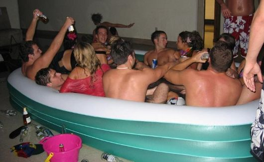 dorm Freshman parties college