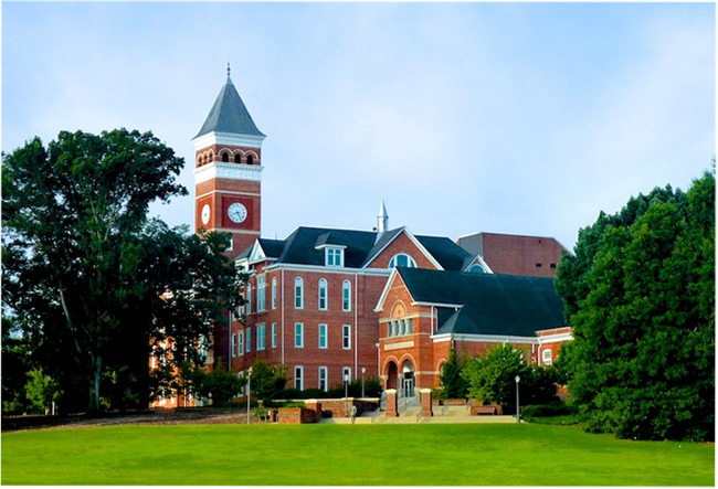 Clemson list of top party colleges
