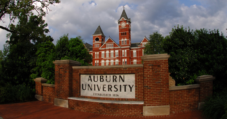 Auburn list of top party colleges