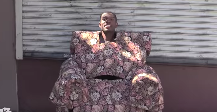 Bro Dressing As A Chair To Prank People Is Most Hilarious Prank Ever